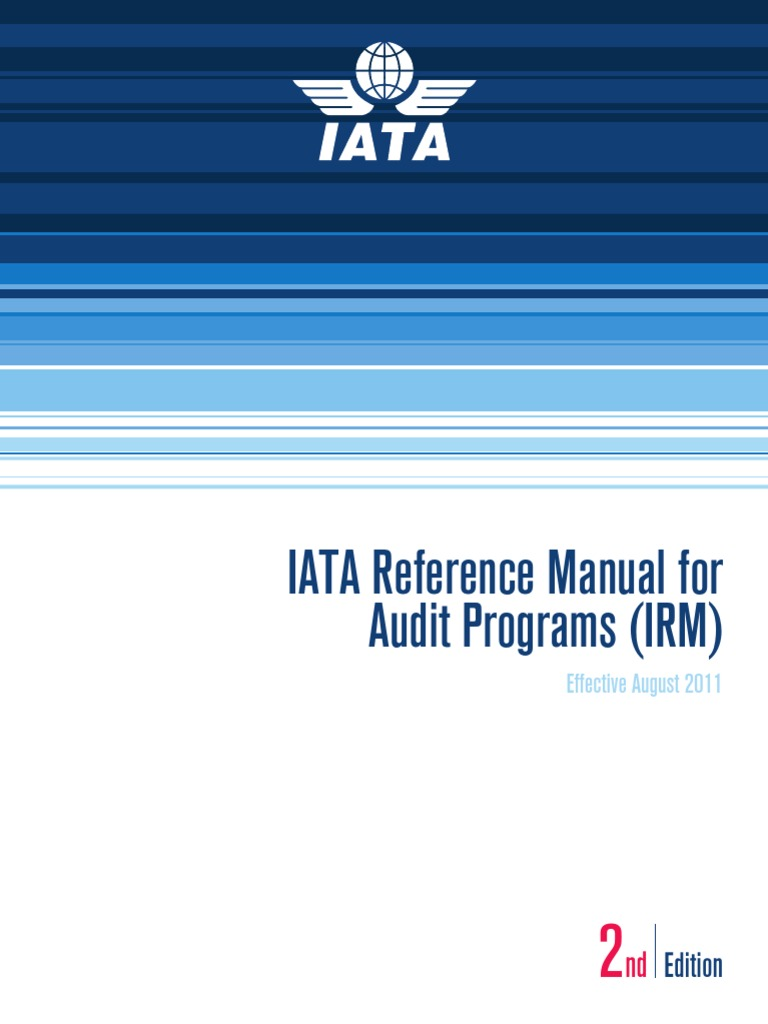 IATA Reference Manual for Audit Program_ed2_ aug_2011   Air Traffic Control    Airport