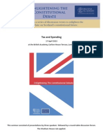 Taxation and Spending after the Scottish Referendum