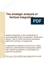 Strategic analysis of vertical integration