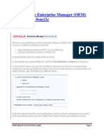 Install Oracle Enterprise Manager