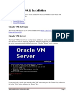 Oracle Vm Installation