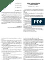 Pliant Studiu Pr. Mihai Valica-Fara Note