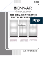 Jb36nxfxlw00 Jb36nxfxrw00 Js42nxfxdw00 Js48nxfxdw00 Jf42nxfxdw00 Models 2009 Jenn-Air Integrated Built in Refrigerator Service Manual