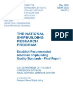 Establish Recommended American Shipbuilding Quality Standards - Final Report - 1999