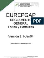 Eurepgap - Reglamento General Frutas y Hortalizas