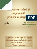 Orientarea Scolara Si Profesionala Prin Ora de Dirigentie