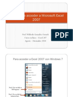 Pasos Para Entrar a Microsoft Excel