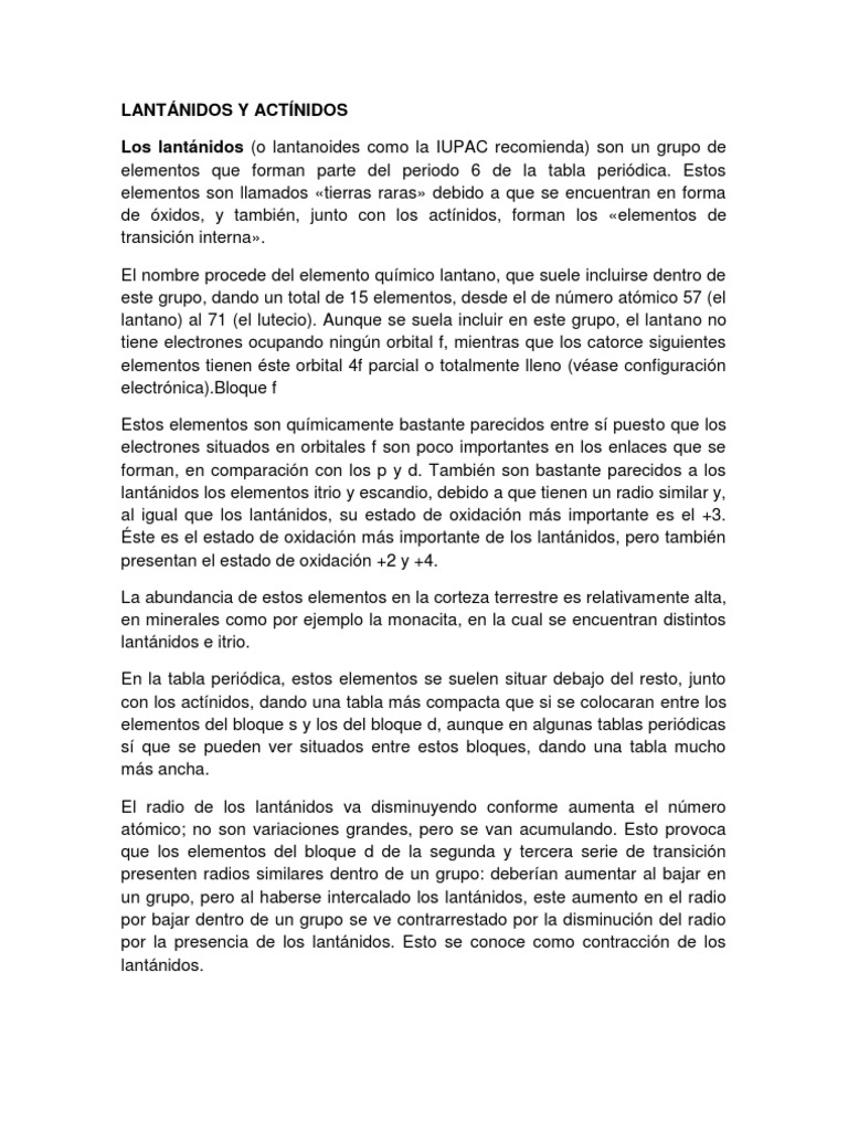 Lantnidos y actnidoscx urtaz Choice Image