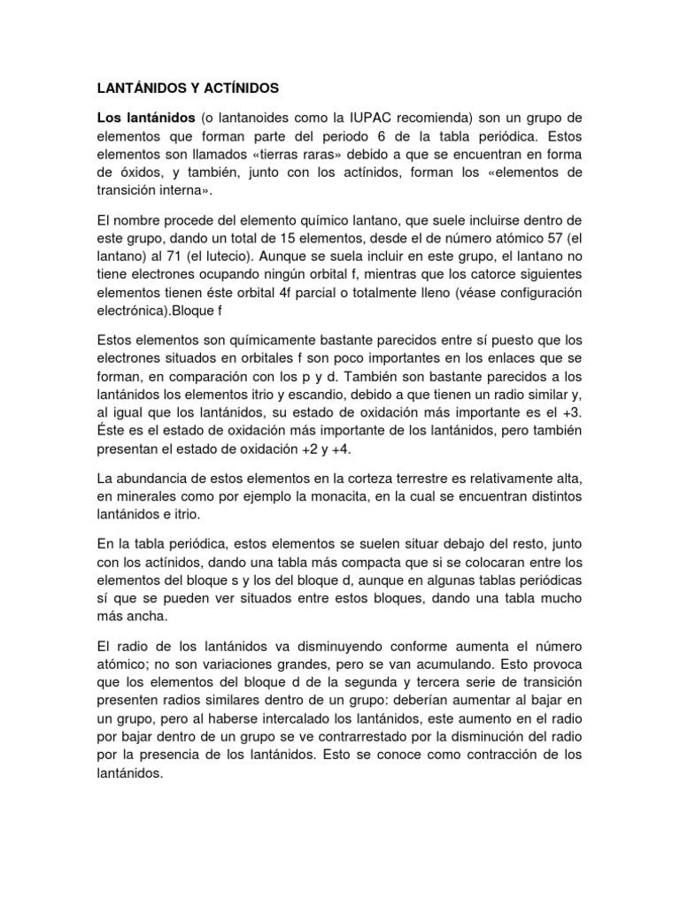 Lantnidos y actnidoscx urtaz Gallery