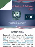 Economic Policy of Pakistan 2011 Slides