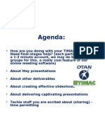 April 09 TIMAC Online Meeting Agenda