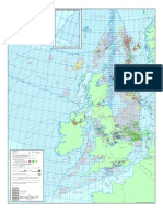 North Sea Oil and Gas Wall Map