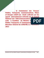 Rapport Commission TPTC Sur CONATEL