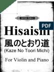 Hisaishi Jou-'Kaze No Toori Michi' From Tonari No Totoro(1988)-SheetMusicCC