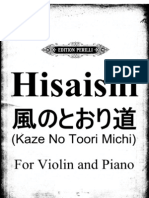 Hisaishi Jou-'Kaze No Toori Michi' From Tonari No Totoro(1988)-SheetMusicCC