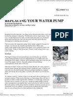 Popular Mechanics - Replacing Your Water Pump