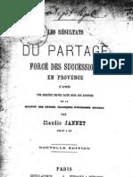 Jannet Claudio - Les Resultats Du Partage Force Des Successions en Provence