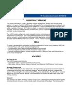 AHFC Academy Curriculum 20112012