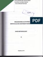 Organizarea Activitatii Serviciului de Asistenta Psihologica