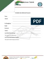 Formulir Pendaftaran 1 Karya 1000 Cerita