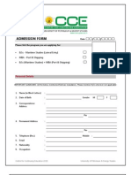 CCE- UPES Admission Form