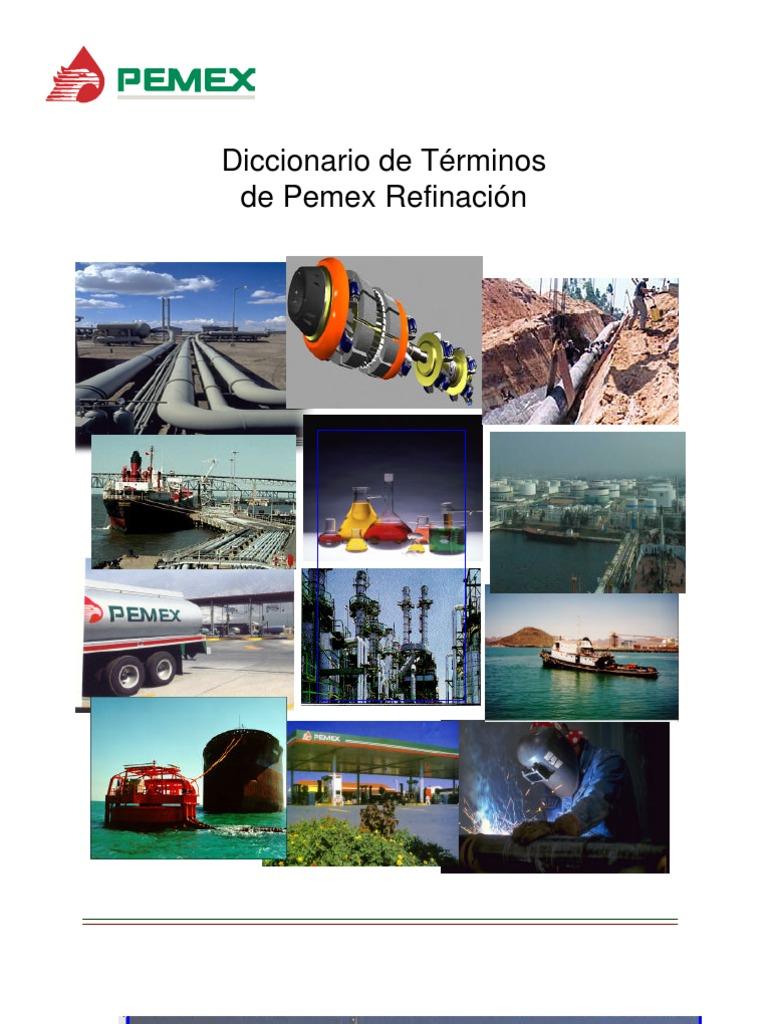 diccionario refinaci243n pemex