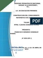 95554227 Construccion Del Conocimiento Matematico en La Escuela
