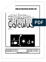 Applications of Calculus in Real Life