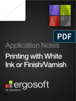 Printing With White Ink or Finish