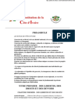 Constitution de La Cote d'Ivoire - Le Legislateur