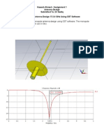 Monopole Antenna Design in CST