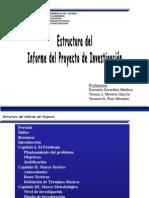Estructura Del Informe Del Proyecto Investigacion