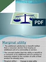 Utility Analysis of Demand