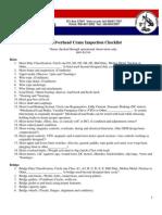 Cca a Overhead Crane Checklist