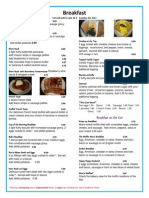 breakfast menu updated