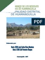 Plan de Manejo de Los Residuos Solidos de Huamanguilla