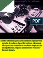 Como crear una estación de radio por internet nata