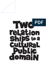 "Negativland- ""Two Relationships to a Cultural Public Doman"""
