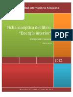 """Ficha sinóptica del libro:""""Energía interior"""""""