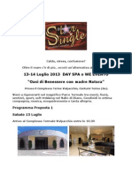 Evento 13-14 Luglio Day Spa o WE