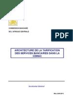 Tarification_ Servbanc_CEMAC - Architecture de La Tarrification Des Services Bancaires Dans La Cemac