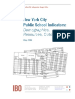 New York City Independent Budget Office 2013 Education Indicators Report