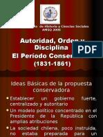 Período conservador en chile  1831-1861modificado