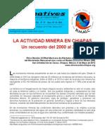 LA ACTIVIDAD MINERA EN CHIAPAS Un recuento del 2000 al 2012.
