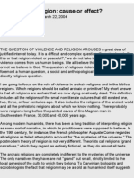 Violence and Religion