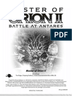 Master of Orion2 Battle at Antares Handbuch