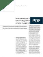 Mies Conception_ La Casa Farnsworth y El Misterio Del Armario Transparente