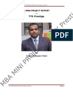 MBA Mini Project by Tushar N. Chole