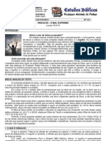 LIÇÃO 1 - EBD - ORGULHO - O MAL SUPREMO