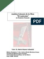 Analisis Literario Obra El Anticristo